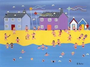 Kites on the Beach by Gordon Barker