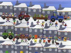 Parade in Winter Town by Gordon Barker