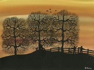 Silhouetted on the Hill by Gordon Barker