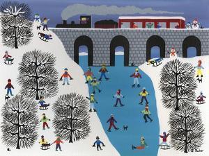 Skating under the Train Trestle by Gordon Barker