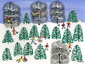 Sledding in the Pines by Gordon Barker