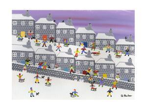 Sledding in the Streets by Gordon Barker