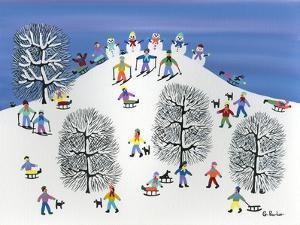 Snowmen on Pine Hill by Gordon Barker