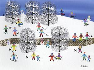 Snowy Brick Road by Gordon Barker