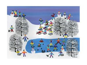Winter Fun on Pine Hills by Gordon Barker