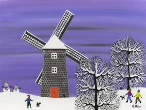 Winter Windmill by Gordon Barker