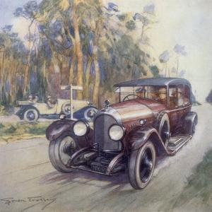 Poster Advertising Bentley Cars, 1927 by Gordon Crosby