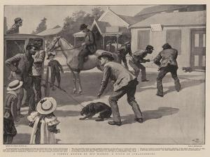 A Timely Rescue by His Master, a Scene in Johannesburg by Gordon Frederick Browne
