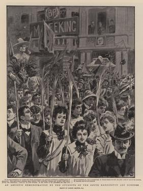 An Artistic Demonstration by the Students of the South Kensington Art Schools by Gordon Frederick Browne