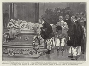 An Incident in the Pilgrimage of Penance; Prince Chun Depositing Wreaths on the Royal Tombs in the  by Gordon Frederick Browne
