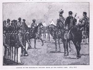 Arrival of the British at Makharajah Dhuleep Singh at the British Camp Ad 1846 by Gordon Frederick Browne