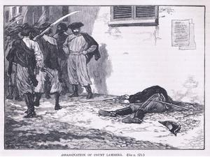 Assassination of Count Lamberg Ad 1849 by Gordon Frederick Browne