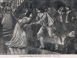 Charles Welcoming His Queen to England 1625 by Gordon Frederick Browne