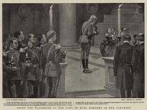 Count Von Waldersee at the Tomb of King Humbert in the Pantheon by Gordon Frederick Browne