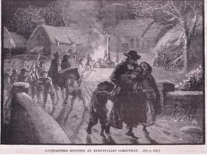 Covenanters Evicting an Episcopalian Clergyman by Gordon Frederick Browne