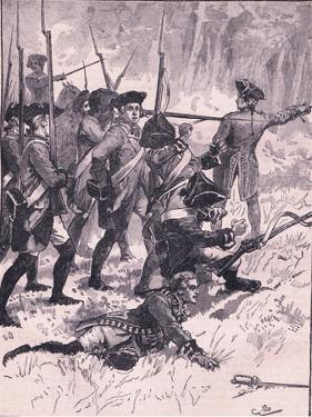 Defeat of General Braddock in the Indian Ambush Ad 1755 by Gordon Frederick Browne