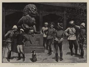 East and West, a Group of Officers at the Gate of the Forbidden City, Peking by Gordon Frederick Browne