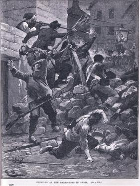 Fighting at the Barricade Ad 1847 by Gordon Frederick Browne