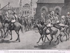 General Ian Hamilton's Return to Pretoria: His Force Marching Past Lord Roberts, July 30, 1900 by Gordon Frederick Browne