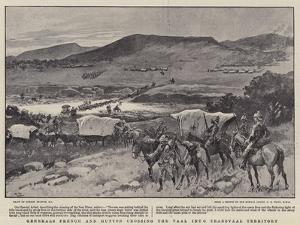 Generals French and Hutton Crossing the Vaal into Transvaal Territory by Gordon Frederick Browne