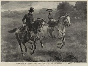 Happy Days at Windsor, the Queen and Prince Consort Riding in the Park by Gordon Frederick Browne