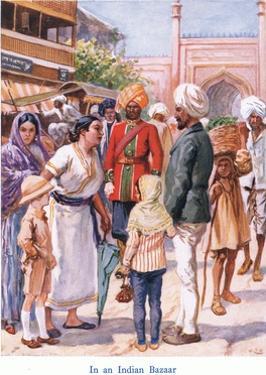 In an Indian Bazaar by Gordon Frederick Browne