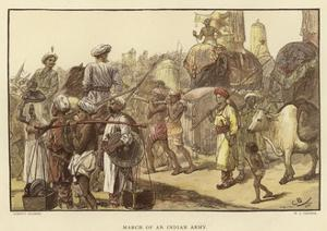 March of an Indian Army by Gordon Frederick Browne