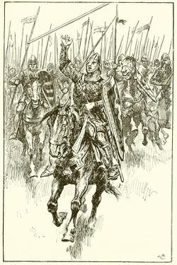 Normans Charging at the Battle of Hastings by Gordon Frederick Browne