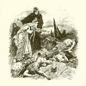 Queen Edith Finding the Body of Harold after the Battle of Hastings by Gordon Frederick Browne