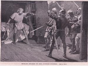 Richard Assailed by the Austrian Soldiers Ad 1192 by Gordon Frederick Browne