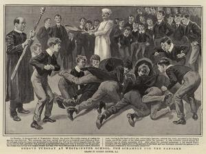 Shrove Tuesday at Westminster School, the Scramble for the Pancake by Gordon Frederick Browne