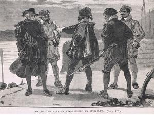 Sir Walter Raleigh Re-Arrested by Stukeley 1618 by Gordon Frederick Browne