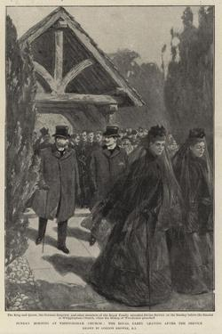 Sunday Morning at Whippingham Church, the Royal Party Leaving after the Service by Gordon Frederick Browne