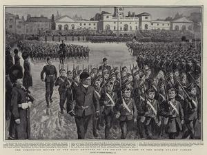 The Coronation Review of the Boys' Brigades by the Prince of Wales on the Horse Guards' Parade by Gordon Frederick Browne