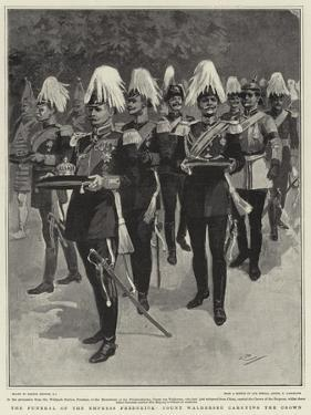 The Funeral of the Empress Frederick, Count Waldersee Carrying the Crown by Gordon Frederick Browne