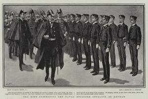 The King Inspecting the Naval Engineer Students at Keyham by Gordon Frederick Browne