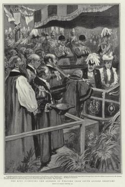 The King Receiving the Address of Welcome from South London Boroughs by Gordon Frederick Browne