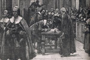 The People Signing the Covenant of St Giles Church in Edinburgh 1638 by Gordon Frederick Browne