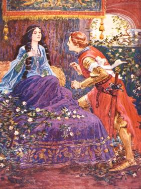 The Prince Awakens the Sleeping Beauty, Illustration for 'Children's Stories from Tennyson' by… by Gordon Frederick Browne