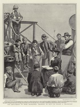 The Treatment of Boer Prisoners, Reading to Boys on Board a Transport by Gordon Frederick Browne