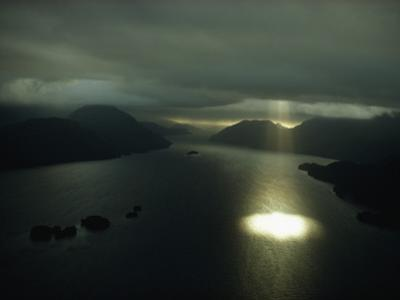 Aerial View of Dusky Sound Near the Southwestern Tip of South Island