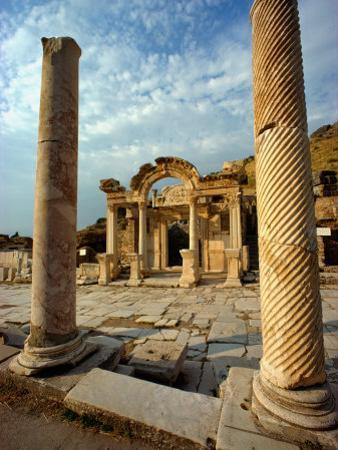 The Remains of Hadrians Gate at Ephesus