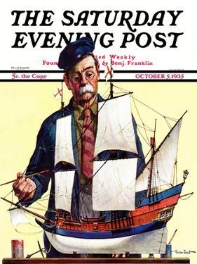 """Model Ship,"" Saturday Evening Post Cover, October 5, 1935 by Gordon Grant"
