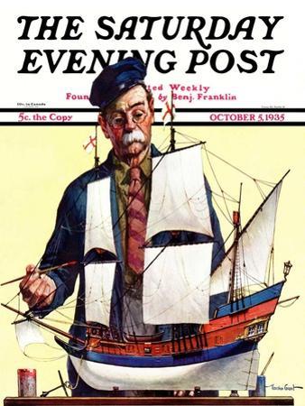 """Model Ship,"" Saturday Evening Post Cover, October 5, 1935"