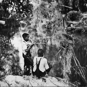 Albert Thornton's Grandson's Fishing by Gordon Parks