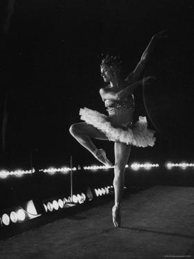 "Ballet Dancer Mia Slavenska Performing in the Ballet ""Arabian Nights."" by Gordon Parks"