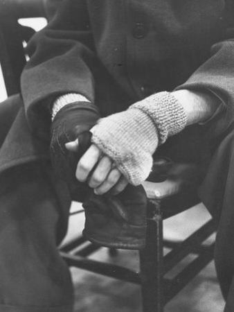 Pianist Glenn Gould in Fingerless Gloves Worn to Keep Hands Supple, Columbia Recording Studio