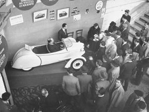 The Smallest Car at the Paris Auto Show, the Reyonnah by Gordon Parks