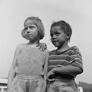 Two Girls at Camp Christmas Seals, a Racially Integrated Summer Camp in Haverstraw, NY by Gordon Parks