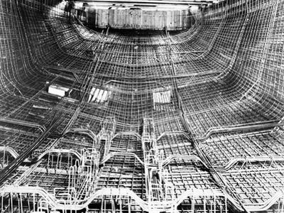 Interior of Ship under Construction